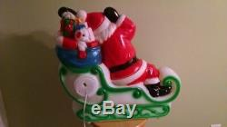 Santa and Sleigh Lighted Blow Mold, New, 24 long X 21 tall X 8 wide