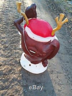 Santa's Best Tasmanian devil Taz blowmold Christmas blow mold 40 tall