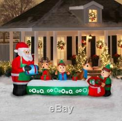 Santa's Toy Factory Animated Christmas Inflatable