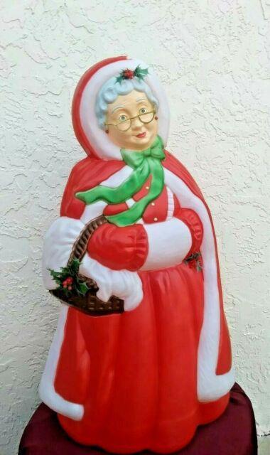 Santas Best Mrs Santa Claus Christmas Blow Mold Plastic Outdoor Light Up 40