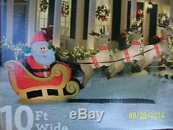 Santas Sleigh Airblown Inflatable /Reindeer Outdoor Christmas Holiday Decoration