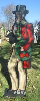 Set of 6 Life Size Wood J. Langelier Victorian Christmas Carolers Lawn Ornaments