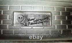 Signed DON FEATHERSTONE Lighted Haunted House Union Product Blow Mold 1995 Vtg