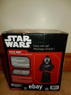Star Wars Kylo Ren Christmas Inflatable 3.5 Feet Tall Brand New Free Usps Ship