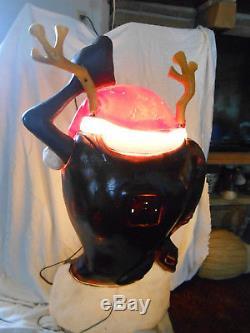 TAZ LARGE 40 Tall SIZE TAZ TASMANIAN DEVIL CHRISTMAS BLOW MOLDSanta's Best