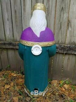 TPI Mary Joseph Jesus 3 Wise Men Sheep Donkey Nativity Set Christmas Blow Mold