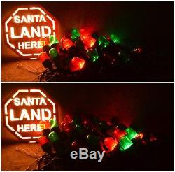 Target SANTA'S RUNWAY LIGHTS Christmas Lighted Roof Or Ground Decoration 2005