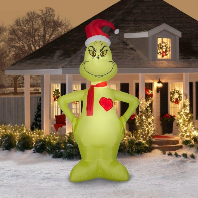 The Grinch Inflatable 11ft Heart Grows 3 Sizes Christmas Free Same Day Ship