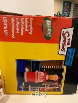 The Simpsons 8' Santa Homer DOH NUTS 2004 Gemmy Airblown Christmas Inflatable