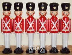 Toy Soldier Case (6) Christmas Figure General Foam Plastic Blow Mold Light