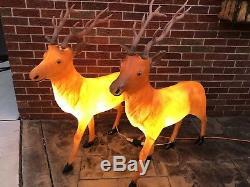 Two Santas Best 35 Reindeer Buck Deer Lighted Blow Mold