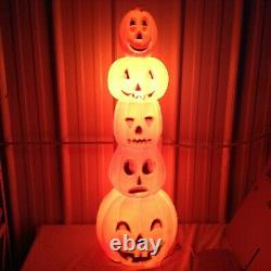 Union Products Don Featherstone Blow Mold Stacking Pumpkins Jack-o-Lanterns EUC