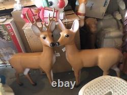 Union Products Reindeer Vintage Blow Mold Set