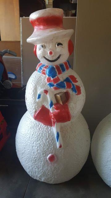 Very Rare 4th Of July 41 Snowman Blow Mold Light Up (red, White & Blue)