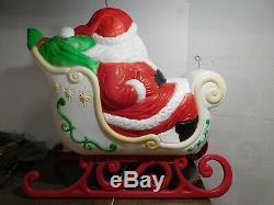 VTG 36 Grand Venture Santa Claus Presents Sleigh Christmas Blow Mold Yard Decor