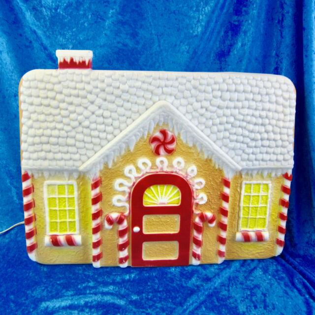 Vtg Blow Mold Don Featherstone Gingerbread House Union Products Xmas Blowmold