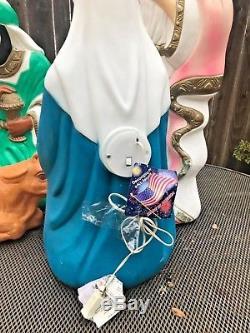 VTG Blow Mold Plastic Christmas Nativity Scene Yard Decorations 7pc Lot Camel