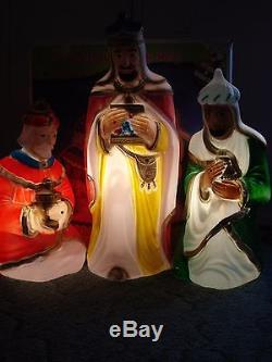 VTG GENERAL FOAM XMAS BLOWMOLDS 3 WISE MEN EXCEPTIONAL CONDITION withBOX