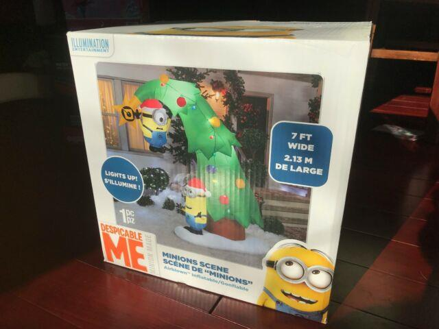 Very Rare Sale $145 7 Foot 2016 Gemmy Minions Christmas Tree Inflatable