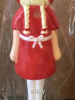 Very Rare Union Plastics Christmas Doll Blow Mold New In Package