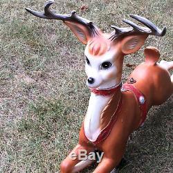 Vintage 1958 Heller Mold Craft Reindeer Christmas Blow Mold Quite Nice