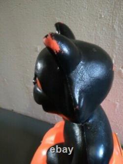 Vintage 1993 Halloween Blow Mold Black Cat Pumpkin JOL Carolina Enterprises 35