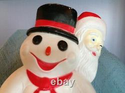 Vintage 1999 Signed Don Featherstone Union 30 Snowman And Friends Blow Mold