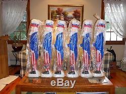 Vintage 6 pack NOS 36 Union Prod Red, White & Blue Patriotic Uncle Sam Blowmolds