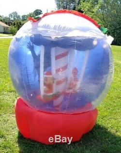 Vintage Airblown Inflatable Gemmy Rotating Christmas Globe 6 ft Tall See Pics