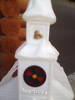 Vintage Blow Mold Empire Church Chapel Christmas Lights Plastic Yard Decor