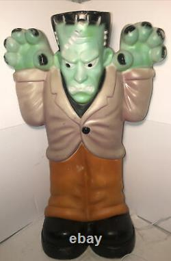 Vintage Blow Mold Large Frankenstein Monster Halloween Lighted Yard Decor