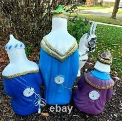 Vintage Blow Molds Nativity Three 3 Wise Men Kings General Foam Christmas