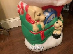 Vintage Christmas 43 TPI Santa with Puppies Blow Mold Yard Decoration