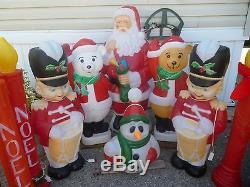 Vintage Christmas Blow Mold Lot of 14 Christmas Yard Decor SANTA PENGUIN ETC