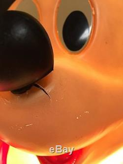 Vintage Christmas Blow Mold Mickey & Minnie Mouse Disney 34
