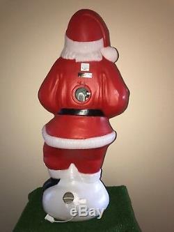 Vintage Christmas TPI 41 HoHoHo Lighted Blow Mold Santa Yard Decoration