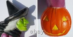 Vintage Don Featherstone Flying Witch on Broom Halloween Blow Mold 1992