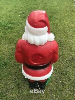 Vintage EMPIRE 46 Santa Claus Toy Bag Blow Mold Lighted Outdoor Decor