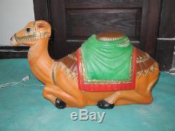 Vintage EMPIRE Nativity Set CAMEL Cow DONKEY 3 PC BLOW MOLD Christmas YARD DECOR
