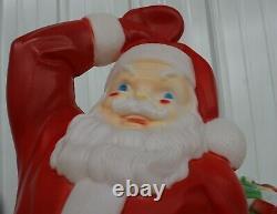 Vintage Empire Christmas Blow Mold Santa Sleigh & Reindeer Reigns Lighted Yard
