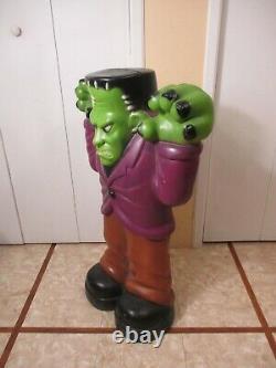 Vintage Frankenstein Lighted Halloween Blow Mold 36 General Foam GREAT COLOR