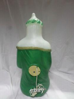 Vintage General Foam Plastic Blow Mold Lighted Nativity Scene 3 Wise Men Kings