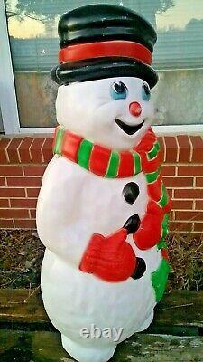 Vintage Grand Venture Christmas Snowman Blow Mold Lawn Decoration LIGHTS UP! 38