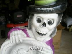 Vintage Halloween 27'' High Tombstone/ghost Plastic Blow Mold