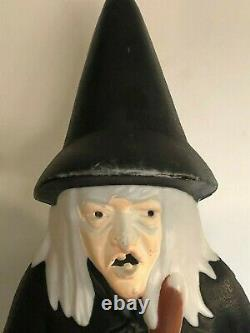 Vintage Halloween Light Up Witch Blow Mold-Empire-39 Tall