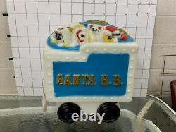 Vintage Jumbo Rare Empire Santa Train Blue Tender Car Blow Mold Yard Art