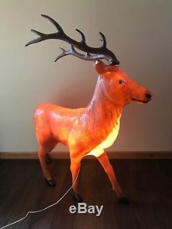 Vintage Lighted Blow Mold Buck Reindeer Yard Decoration