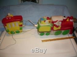 Vintage Rare 1972 Empire Plastics Blow Mold Santa Train And Caboose free ship