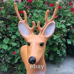 Vintage Reindeer Buck Blow Mold Christmas Yard Decor Union Products 35 1989