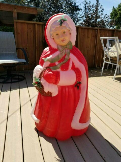 Vintage Santa's Best Mrs Santa Claus Christmas Blow Mold 40 Light Up Yard Decor